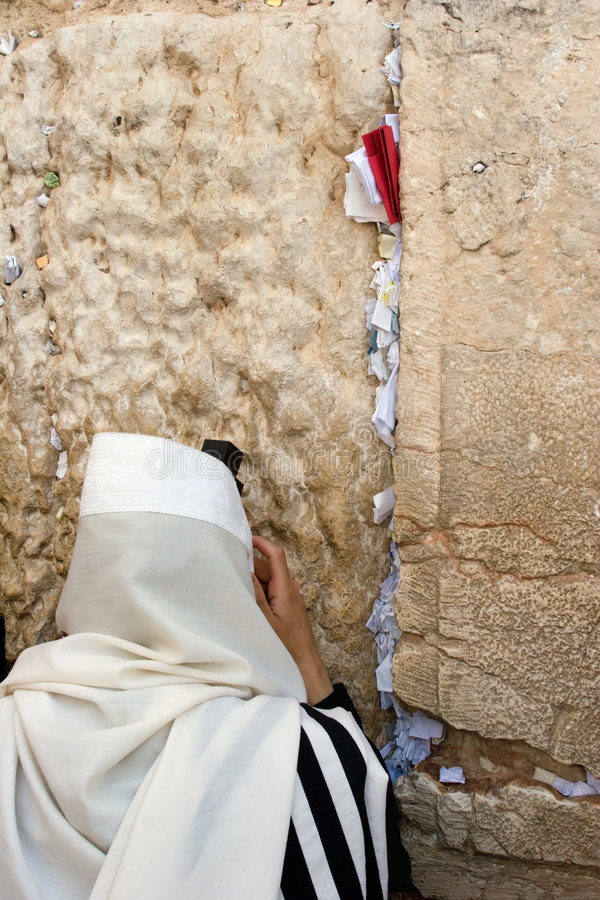 Parede ocidental de Jerusalem.The. foto de stock royalty free