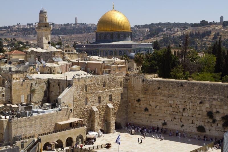 Parede ocidental, Jerusalém imagem de stock