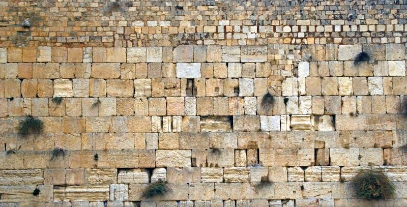 Parede ocidental, Jerusalém, Israel foto de stock