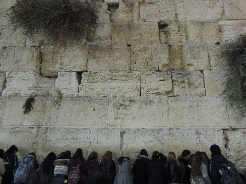 Parede ocidental, Jerusalem foto de stock
