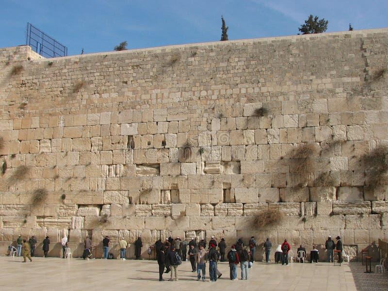 A parede ocidental, Jerusalem, Israel foto de stock