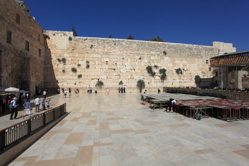 Parede ocidental na cidade velha do Jerusalém, Israel imagem de stock