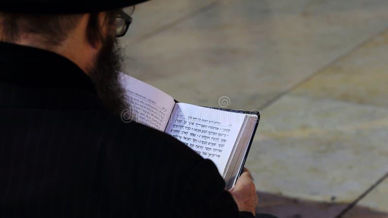Parede ocidental que reza o ritual, Jerusalém, Israel imagens de stock