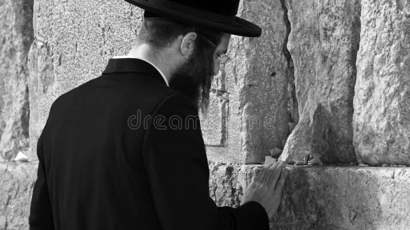 Parede ocidental que reza o ritual, Jerusalém, Israel imagem de stock royalty free