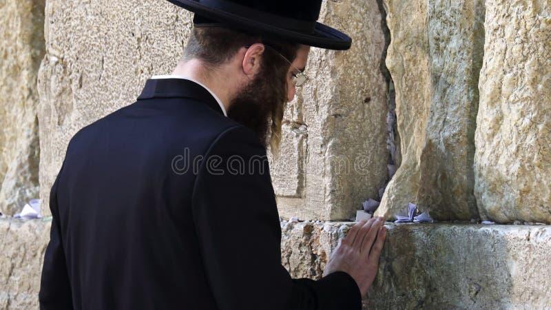 Parede ocidental que reza o ritual, Jerusalém, Israel fotografia de stock