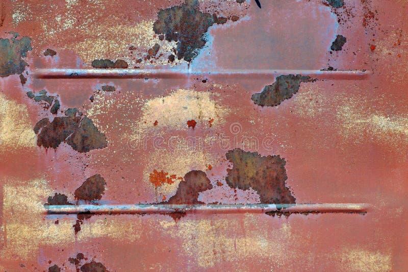 Parede oxidada velha do metal Fundo do metal Corros?o do metal imagens de stock
