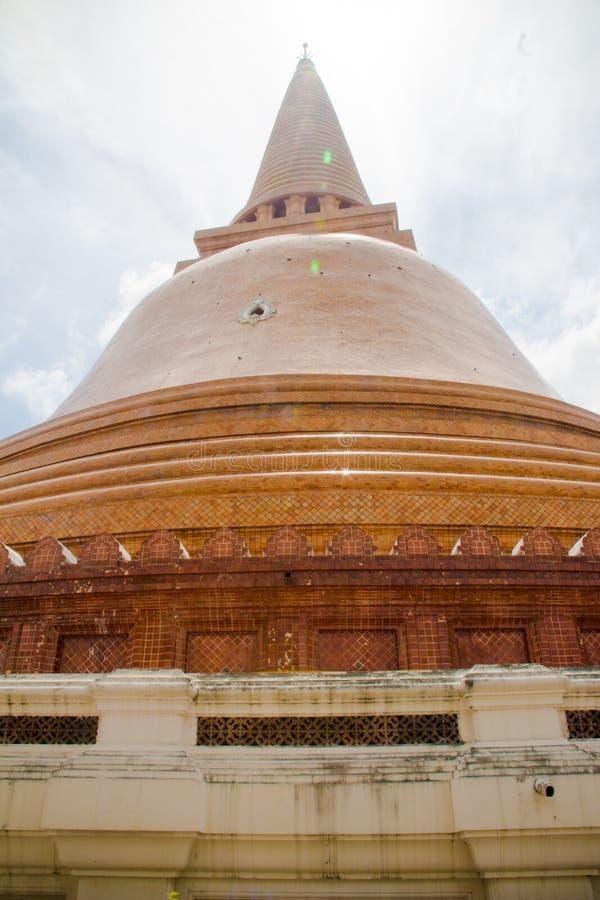 Parede Phra Pathom Chedi do cimento fotografia de stock royalty free
