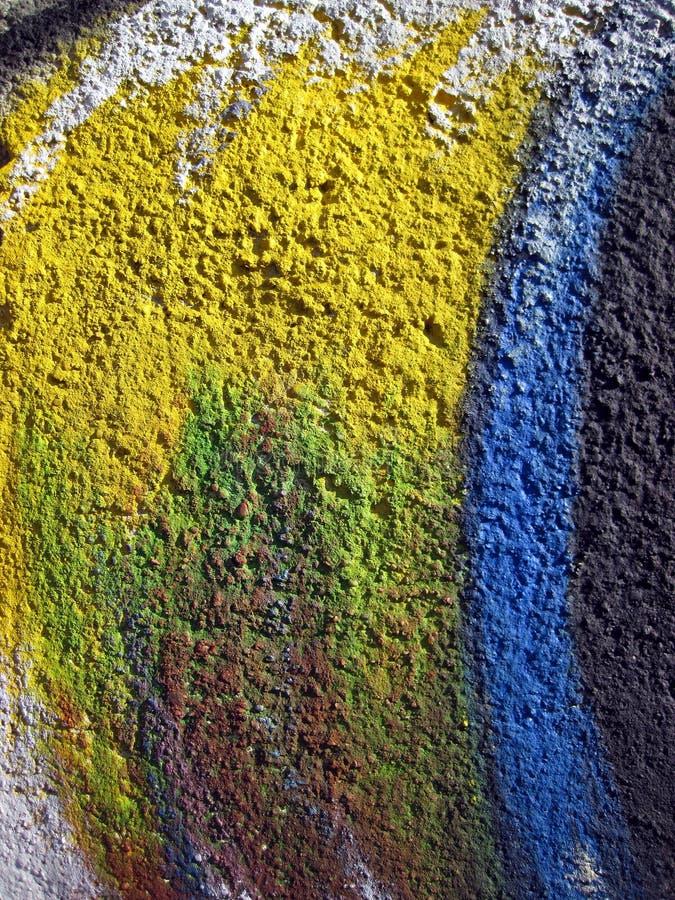 Parede pintada colorida imagem de stock