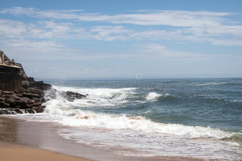Parede, Portugal. Photo of the Atlantic ocean stock photo