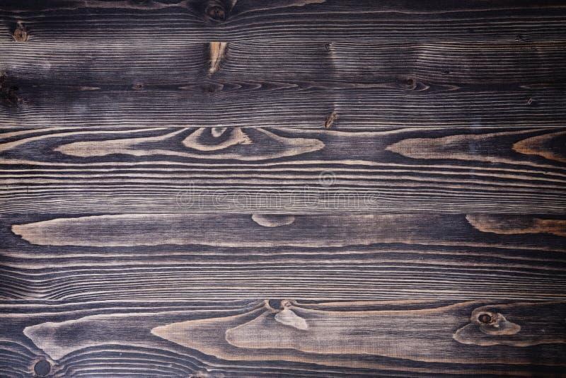 Parede pura da textura do espaço rústico de madeira escuro velho da cópia da opinião superior do vintage do fundo imagens de stock royalty free