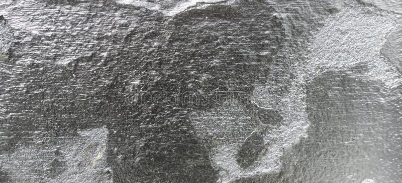 Parede rachada velha com fundo de prata da textura da pintura imagem de stock royalty free