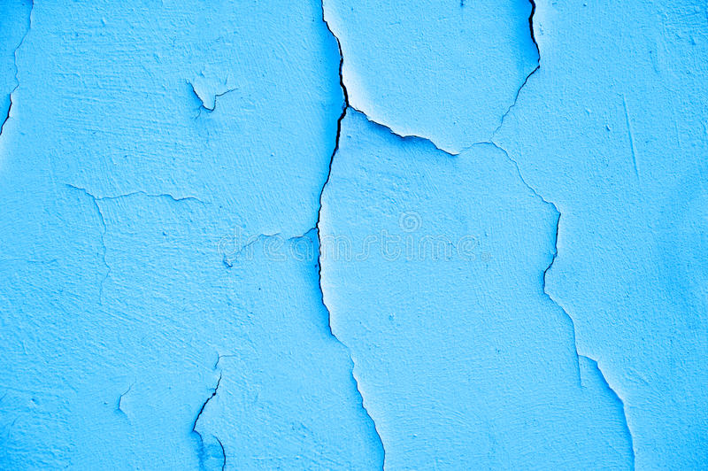 Parede rachada velha do azul de turquesa da textura imagens de stock royalty free
