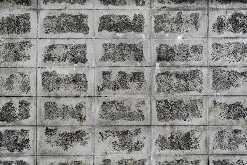 Parede suja do bloco de cimento imagens de stock royalty free