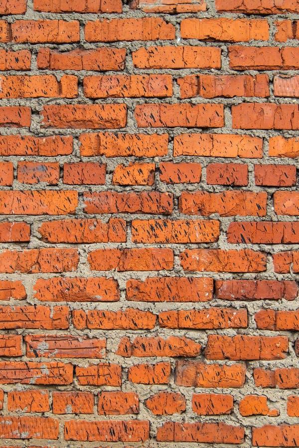 Parede Textured, expressivo de tijolos vermelhos fotos de stock