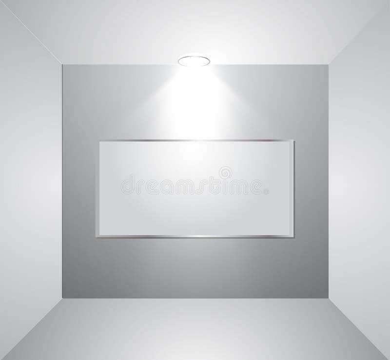Download Parede Vazia Da Galeria Com Luz. Vetor Ilustração do Vetor - Ilustração de museu, creativo: 29848533