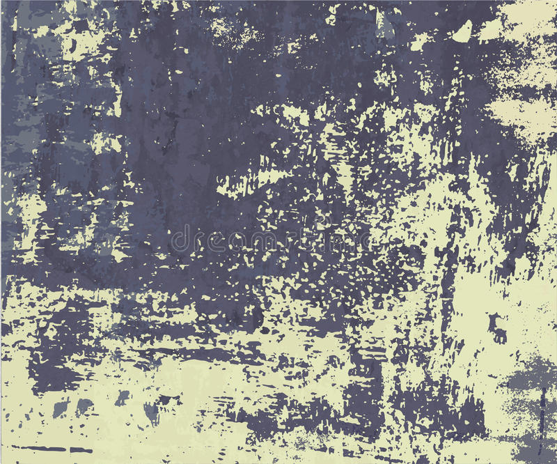 Parede velha com pintura gasto ilustração do vetor