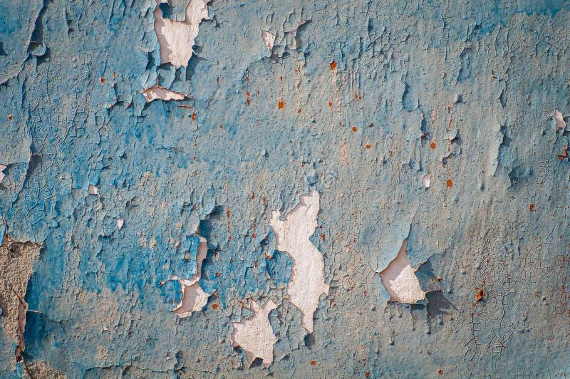 Parede velha com pintura velha mesma secada, danificada Textura, fundo fotografia de stock royalty free