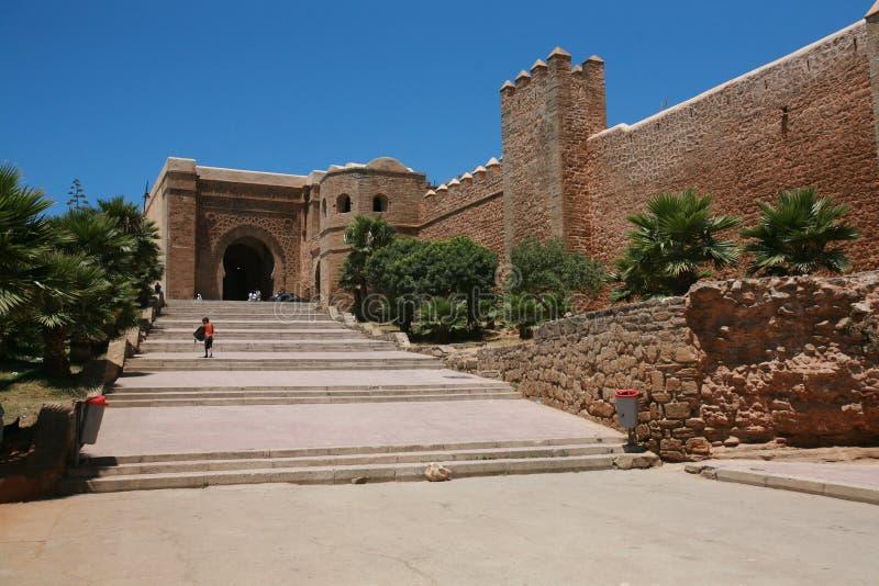 Parede velha de Medina, Rabat Marrocos imagem de stock