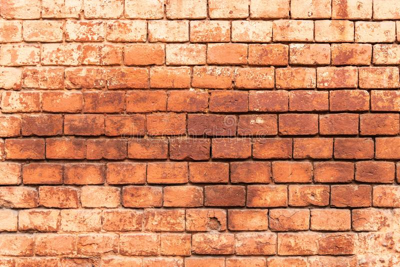 A parede velha do monast?rio constru?da do tijolo vermelho, textura da alvenaria, pode ser usada para o design de interiores imagem de stock royalty free