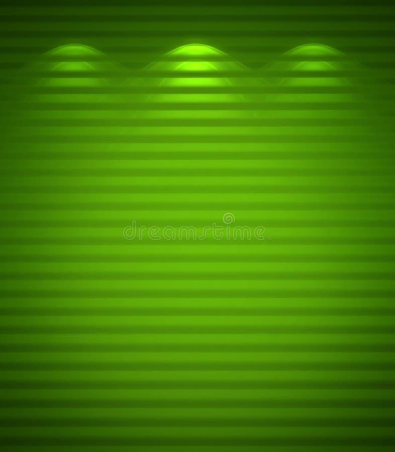 Parede verde iluminada, fundo ilustração do vetor