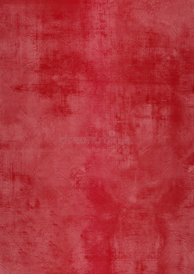 Parede vermelha do emplastro de Grunge com manchas ilustração do vetor