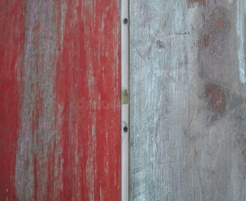 Parede vermelha e branca, vintage fotografia de stock