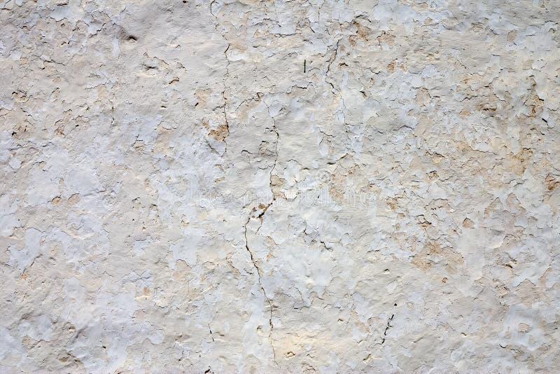 Parede whitewashed envelhecida foto de stock