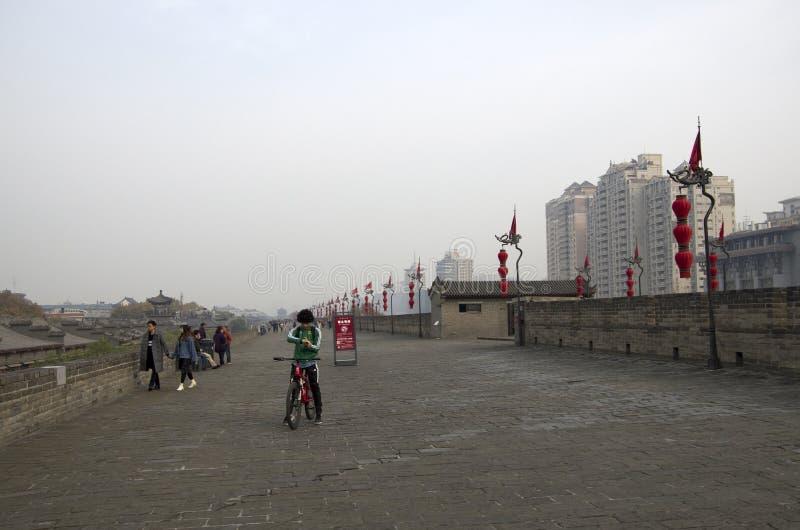 Parede Xi da cidade antiga 'uma China, Shanxi fotos de stock