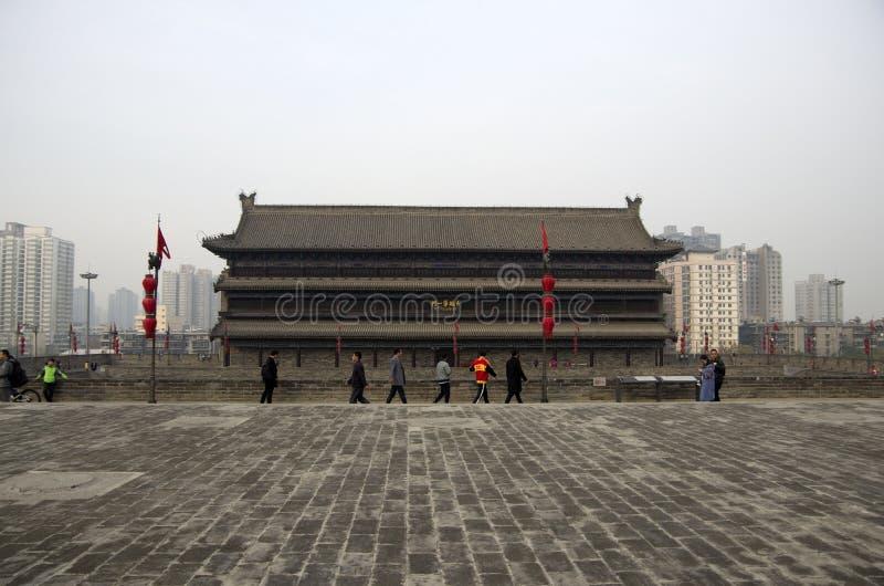 Parede Xi da cidade antiga 'uma China, Shanxi fotografia de stock