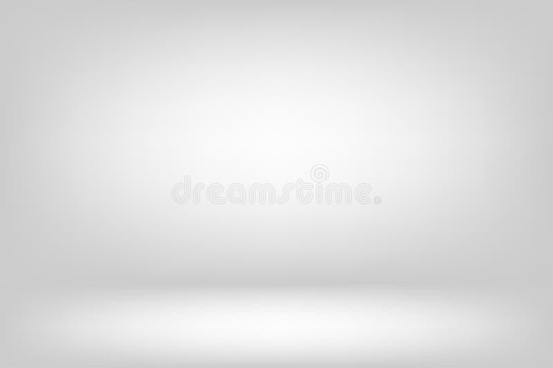 paredes blancas abstractas, habitación y estudio para diseño y diseño stock de ilustración