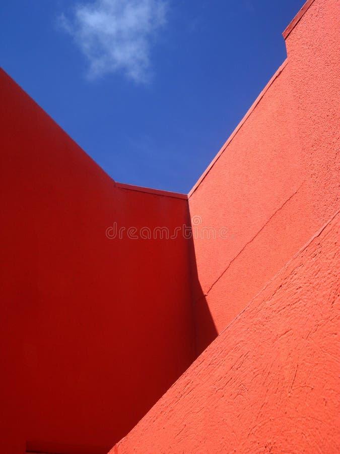 Paredes coloridas brillantes en Willemstad, Curaçao foto de archivo libre de regalías