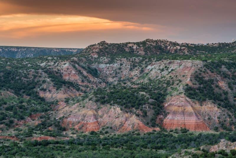 Paredes coloridas en el palo Duro Canyon foto de archivo libre de regalías