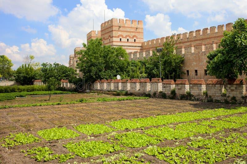 Paredes da cidade de Constantinople imagens de stock royalty free