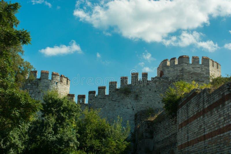 Paredes da cidade de Constantinople em Istambul, Turquia imagens de stock royalty free