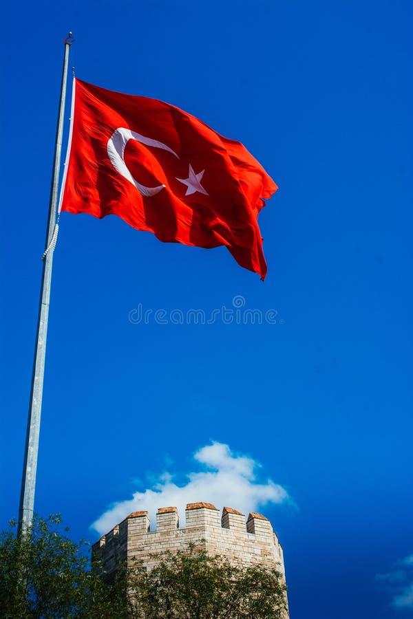 Paredes da cidade de Constantinople em Istambul, Turquia fotografia de stock
