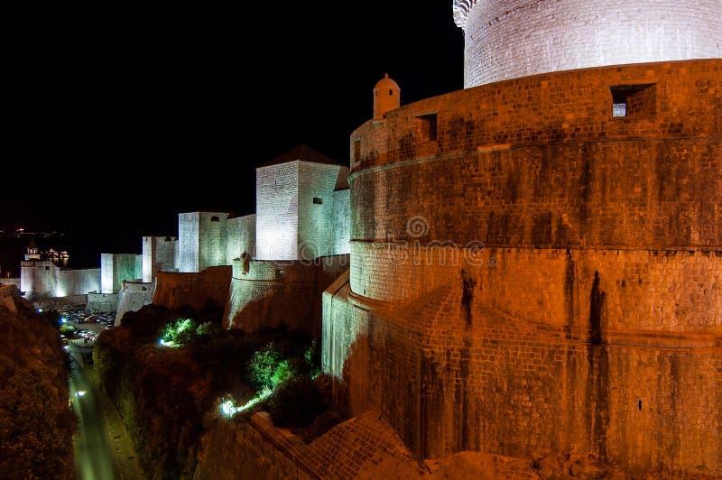 Paredes da cidade de Dubrovnik, Croatia fotos de stock royalty free