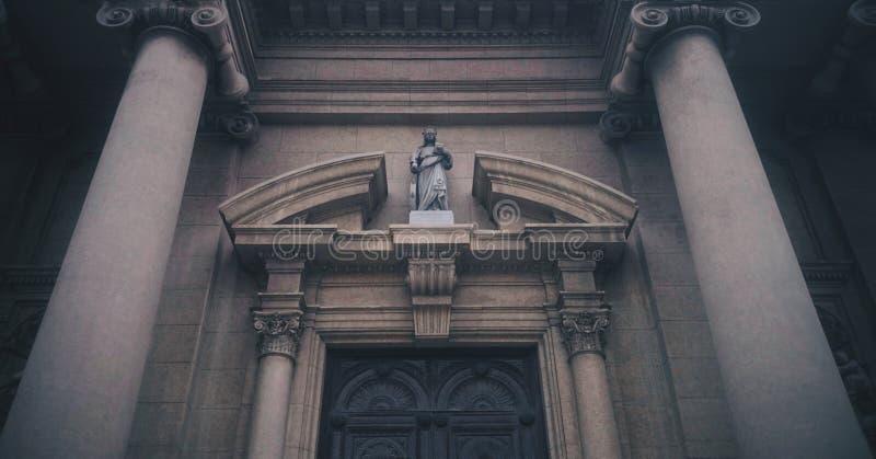 Paredes da igreja Católica fotografia de stock royalty free