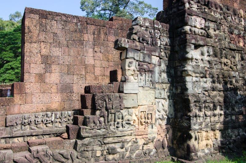 Paredes de Angkor fotografia de stock royalty free