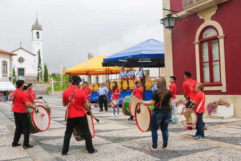 Paredes de Coura nella regione di Norte, Portogallo fotografie stock