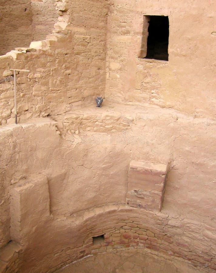 Paredes de desintegração em Mesa Verde fotos de stock royalty free