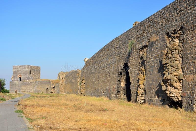 Paredes de la ciudad de Diyarbakir imágenes de archivo libres de regalías