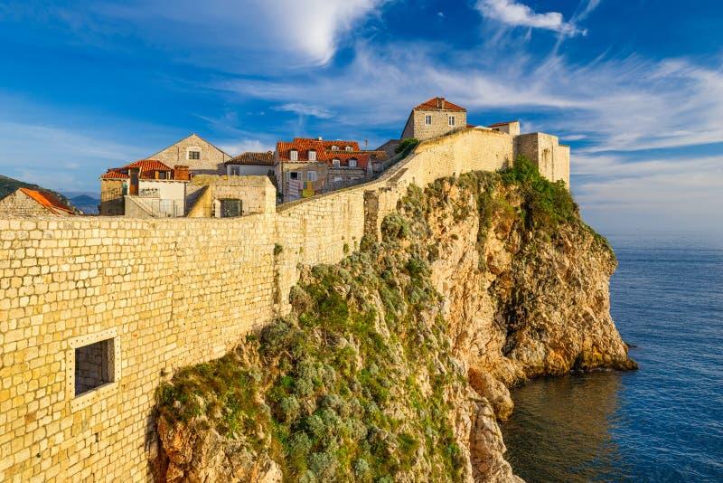 Paredes de la ciudad de Dubrovnik, Croatia fotografía de archivo libre de regalías