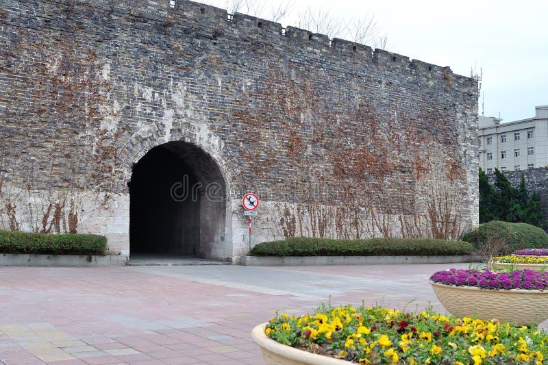 Paredes de la ciudad de Hanzhoung foto de archivo libre de regalías