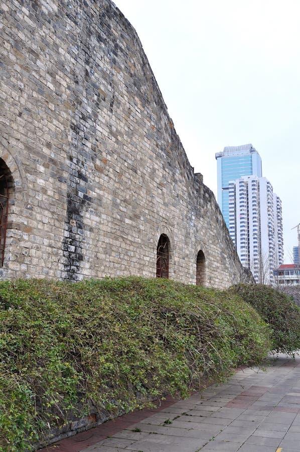 Paredes de la ciudad de Hanzhoung fotos de archivo
