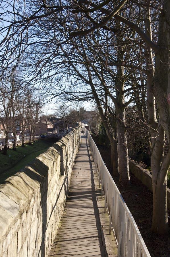 Paredes de la ciudad de York foto de archivo libre de regalías