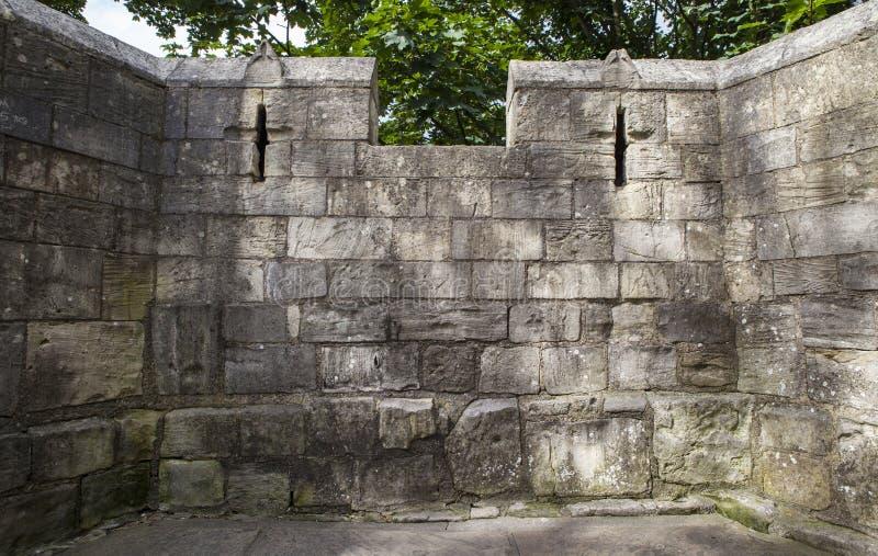 Paredes de la ciudad de York fotos de archivo libres de regalías