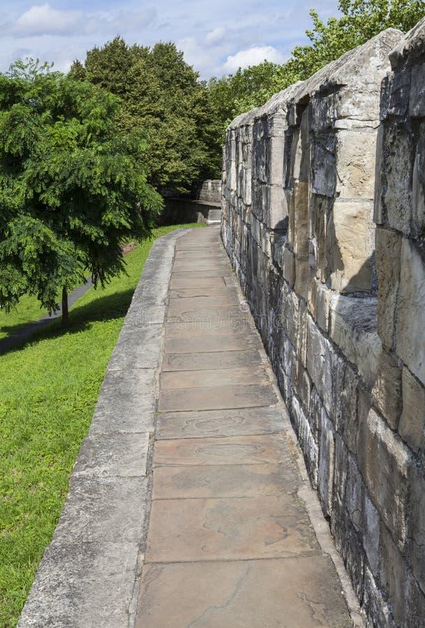 Paredes de la ciudad de York imagen de archivo