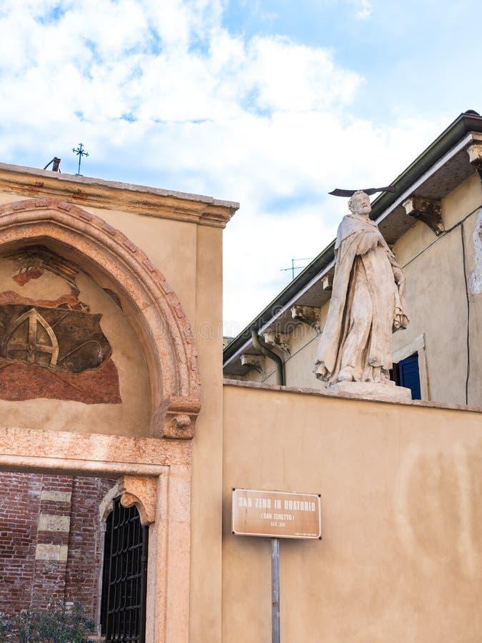 Paredes de la iglesia de San Zeno en oratorio en Verona fotografía de archivo libre de regalías