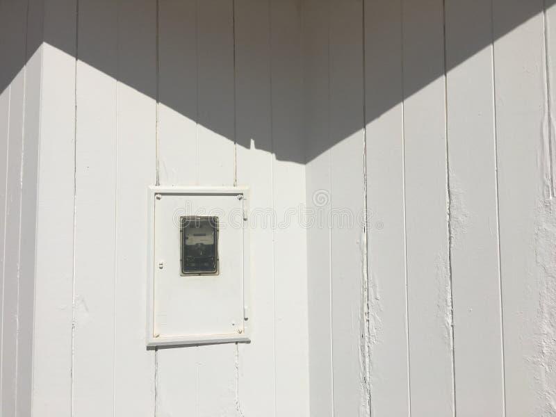 Paredes de madeira brancas imagens de stock