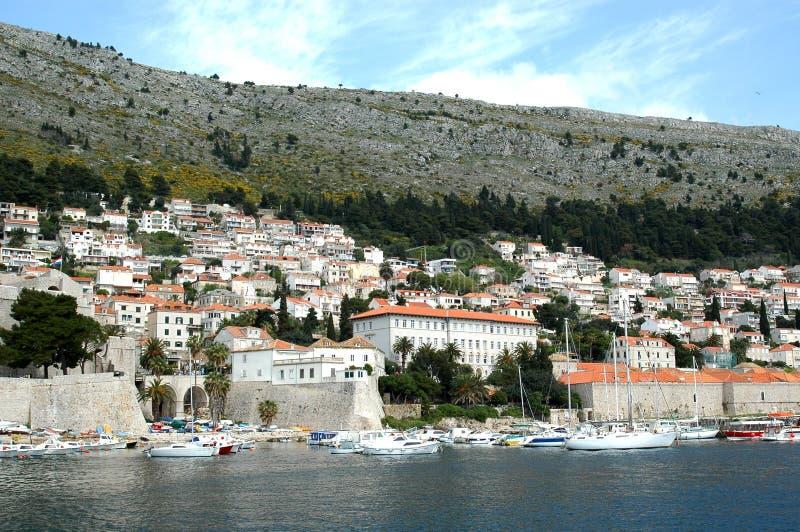 Paredes de pedra da cidade velha Dubrovnik, Croácia imagens de stock royalty free